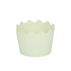 Small Cupcake Cups with anti-stick Baking Sheet D5,7xH4cm. - White - 20pcs