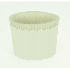 Κυπελάκια Cupcakes με καραμελόχαρτο Μεγάλα Δ7xΥ4,5εκ. Λευκό 65τεμ