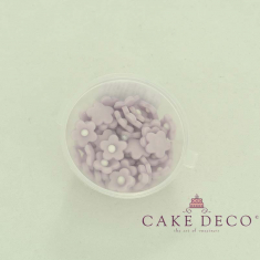 Cake Deco Lila Flowers (50pcs)