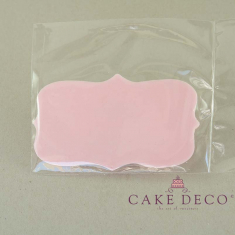 Cake Deco Babypink Birthday Plaque