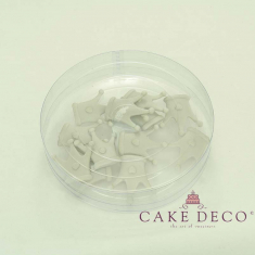 Cake Deco Silver Royal Corona (12pcs)