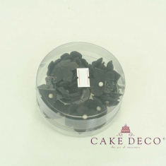 Cake Deco Black Petunias with white pearl (30pcs)