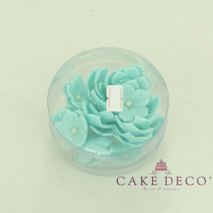 Cake Deco Skyblue Petunia with gold pearl (30pcs)