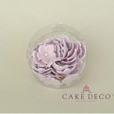 Cake Deco Lila Petunia with white pearl (30pcs)