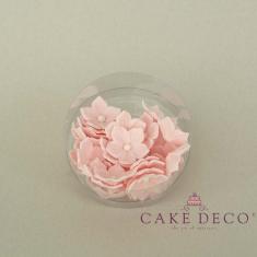 Πετούνιες σε ανοικτό ρόζ χρώμα με λευκή πέρλα (διάμετρος 3εκ.) - 30τεμ.