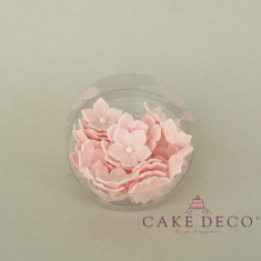 Cake Deco open Babypink Petunia with white pearl (30pcs)