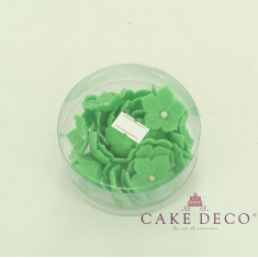Cake Deco green Petunia with white pearl (30pcs)