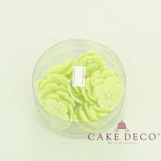 Ανοικτές Πράσινες πετούνιες με λευκή πέρλα (30τεμ.)