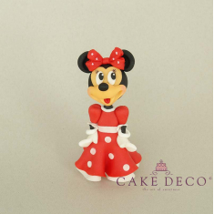 Cake Deco Mouse Girl with red dress (inspired by the disney figure Minnie)