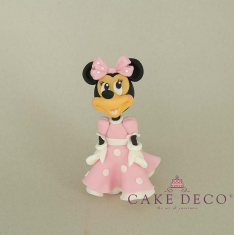 Cake Deco Mouse Girl with babypink dress (inspired by the disney figure Mickey)