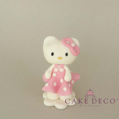 Cake Deco babypink Kitty (inspired by the figure Hello Kitty)