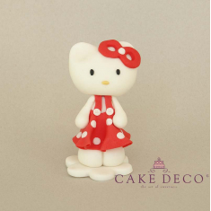 Cake Deco red Kitty (inspired by the figure Hello Kitty)