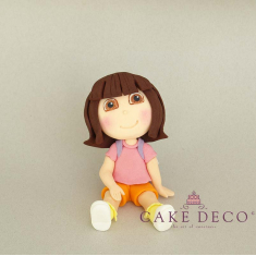 Cake Deco exploring small girl (inspired by the figure Exploring Dora)