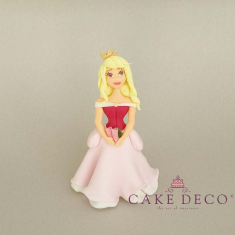 Cake Deco Princess with open babypink dress (inspired by the disney figure Aurura)