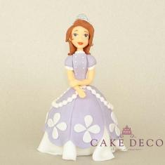 Cake Deco princess with purple dress having flowers (inspired by the disney figure Sofia)