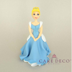 Cake Deco blonde Princess with babyblue dress (inspired by the disney figure Cinderella)
