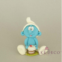 Cake Deco Blue Human figure (inspired by the cartoon Smurfs)