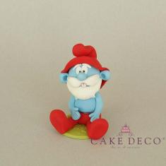 Cake Deco Blue Sapient Human figure (inspired by the cartoon Smurfs)