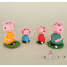Cake Deco Pig family (inspired by the cartoon Peppa)