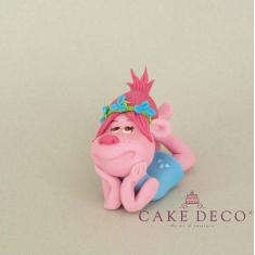 Cake Deco Troll Woman lying down (inspired by the cartoon Trolls)