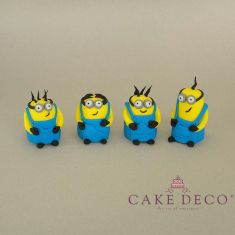 Cake Deco yellow mini figures (inspired by the cartoon Minions)