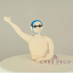 Cake Deco Water Polo Player with blue cap