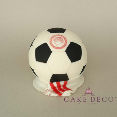 Cake Deco Football and Scarf of the Olympiakos football team