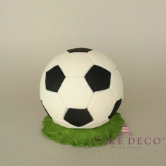 Cake Deco football on the grass