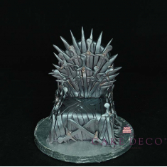 Cake Deco Iron Throne (inspired by the t.v. series Game of Thrones)