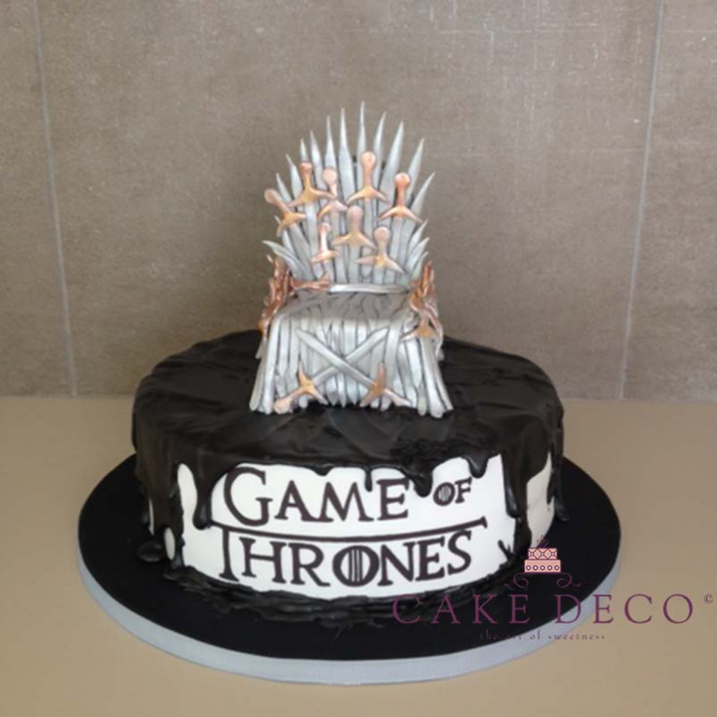 Cake Deco Iron Throne Inspired By The Tv Series Game Of Thrones