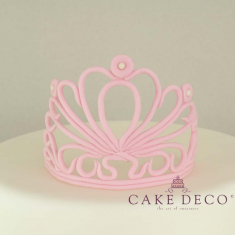 Cake Deco babypink Crown with extruder