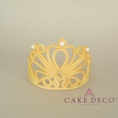 Cake Deco gold Crown with Extruder