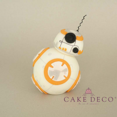 Cake Deco Robot (inspired by the Star Wars Robot BB-8)
