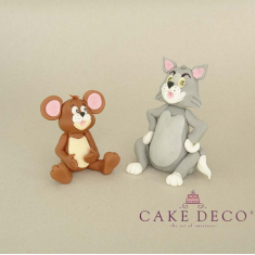 Cake Deco Cat and Mouse (inspired by the cartoon Tom and Jerry)