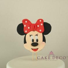 Πλακέτα με Ποντικίνα με κόκκινο φιόγκο (εμπνευσμένο από την φιγούρα της Disney Μίνι)