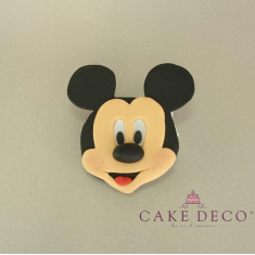 Cake Deco Label with Mouse (inspired by the Disney figure Mickey)
