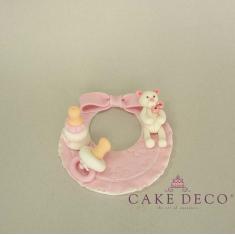 Cake Deco babypink Label Bib