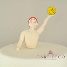 Cake Deco Polo Player with red cap