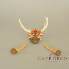 Cake Deco Reindeer - head and legs (inspired by the cartoon Elsa)
