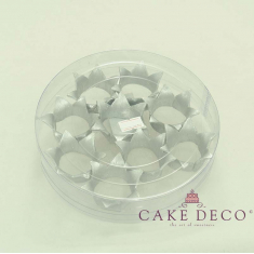 Cake Deco silver Royal Corona (9pcs)
