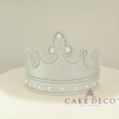 Cake Deco large silver Royal Crown