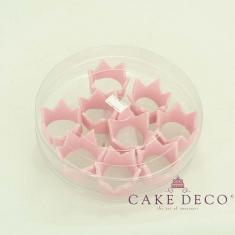 Cake Deco babypink Royal Corona (9pcs)