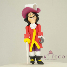 Cake Deco Pirate with red hat (inspired by the disney character Captain Hook)