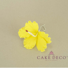 Cake Deco Yellow Hibiscus