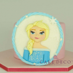 Cake Deco Label Princess of the ice (inspired by the Disney figure Elsa)