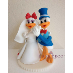 Cake Deco Duck Couple (inspired by the Disney figures Donald and Daisy)