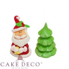 Santa with Xmas tree Set - Modeling figure