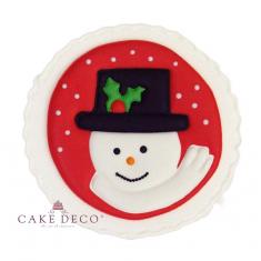 Handmade plaquette topper 'Snowman'