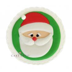 Handmade plaquette topper 'Santa'