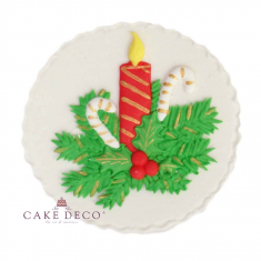 Handmade plaquette topper 'Candle & Pine'